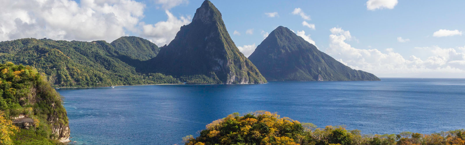 The Pitons in Soufriere